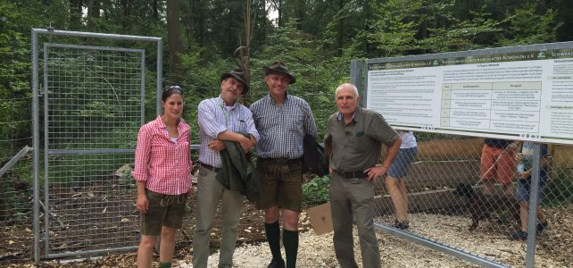 Einweihung und Eröffnung des Schwarzwildgewöhnungsgatter Altmühltal bei Eichstätt